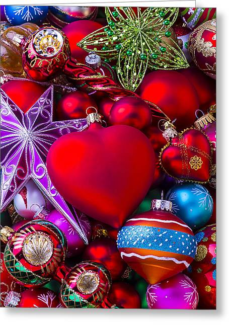 Spheres Greeting Cards - Loving Christmas Greeting Card by Garry Gay