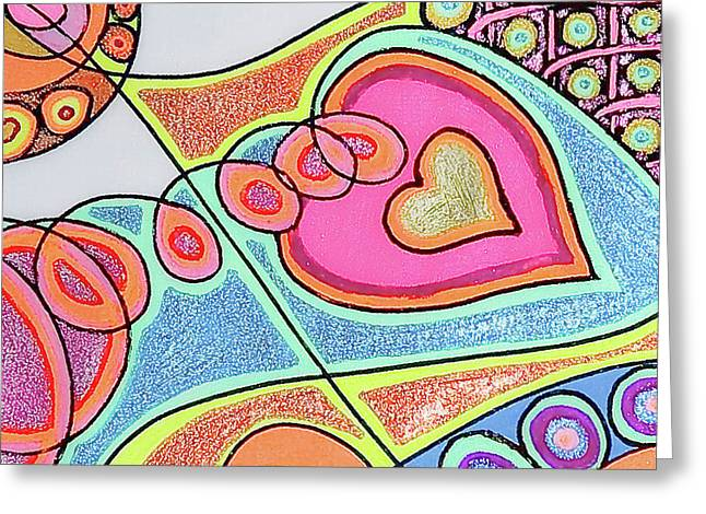 Pulsing Greeting Cards - Loving Heart Connection Greeting Card by Sheree Kennedy