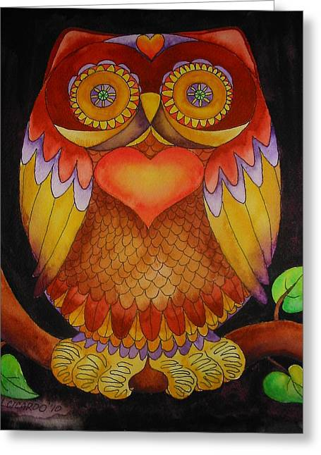 Friendly Greeting Cards - Loving Owl Greeting Card by Lou Cicardo