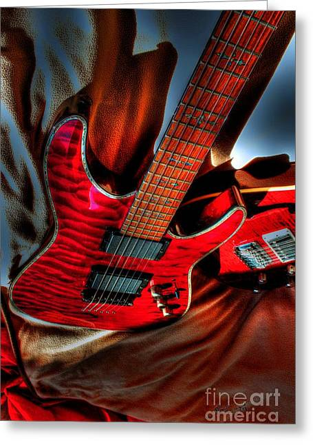 Acoustical Digital Greeting Cards - Loving Red by Steven Langston Greeting Card by Steven Lebron Langston
