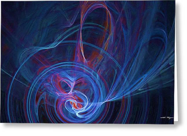 Loving The Colour Blue Greeting Card by Wayne Bonney