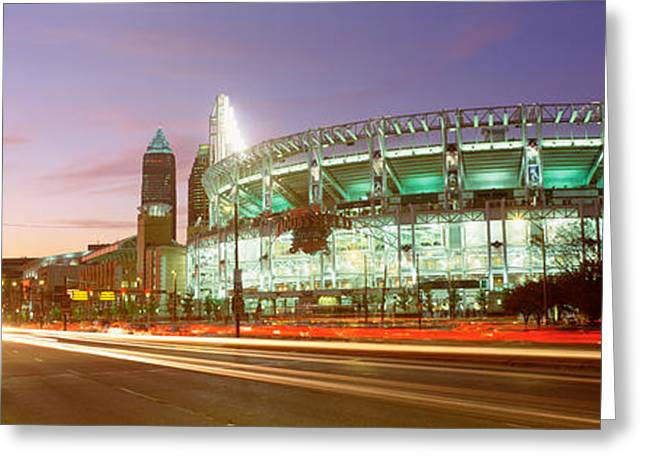 Long Street Greeting Cards - Low Angle View Of A Baseball Stadium Greeting Card by Panoramic Images