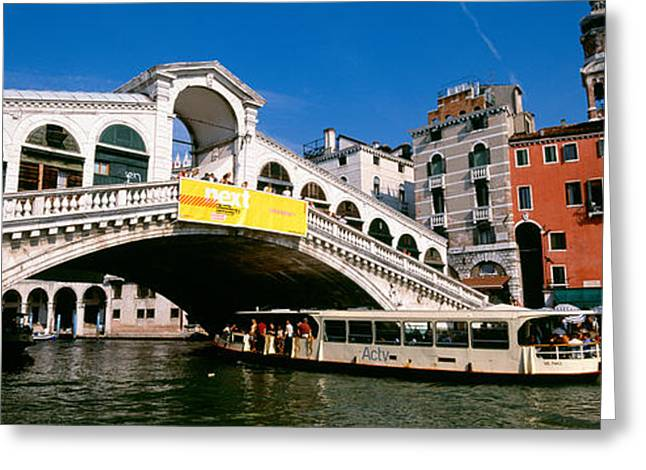 Rialto Bridge Greeting Cards - Low Angle View Of A Bridge Greeting Card by Panoramic Images
