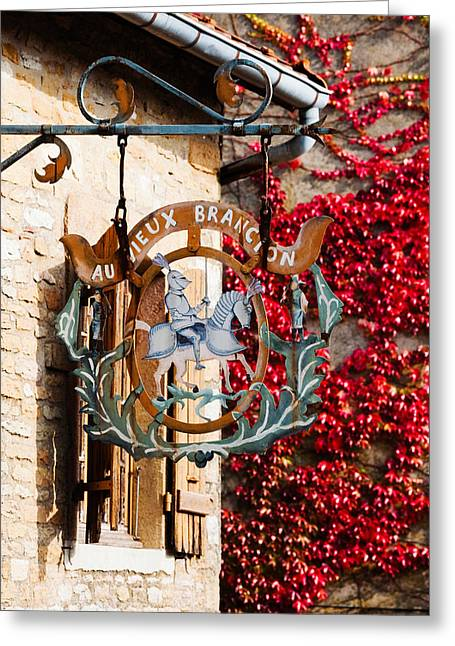 Burgundy Greeting Cards - Low Angle View Of A Building, Brancion Greeting Card by Panoramic Images