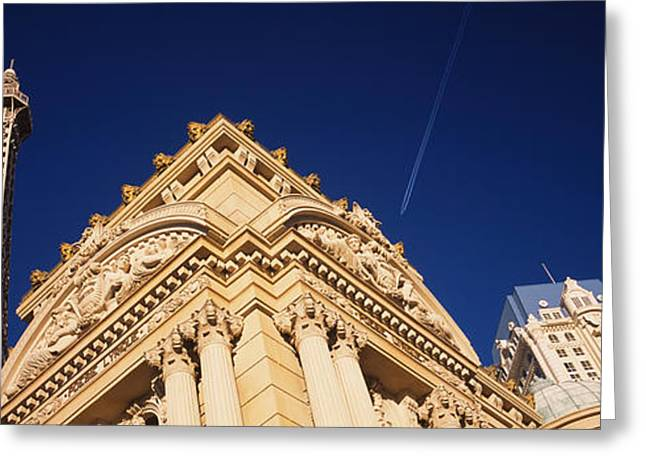Low Angle View Of A Building In Front Greeting Card by Panoramic Images