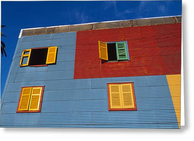 Low Angle View Of A Building, La Boca Greeting Card by Panoramic Images