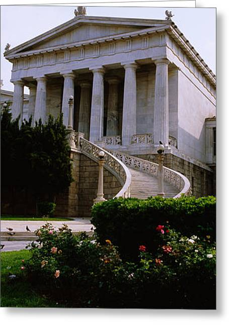 Library Greeting Cards - Low Angle View Of A Building, National Greeting Card by Panoramic Images