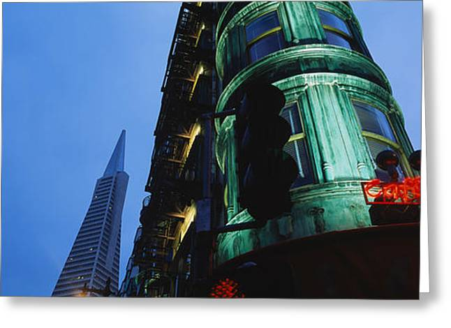 Financial District San Francisco Greeting Cards - Low Angle View Of A Building, Sentinel Greeting Card by Panoramic Images