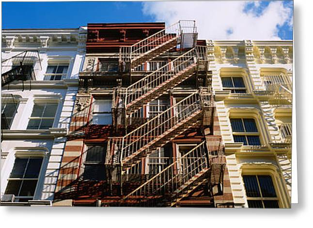 New York City Fire Escapes Greeting Cards - Low Angle View Of A Building, Soho Greeting Card by Panoramic Images