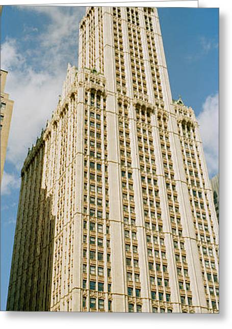 Low Angle View Of A Building, Woolworth Greeting Card by Panoramic Images