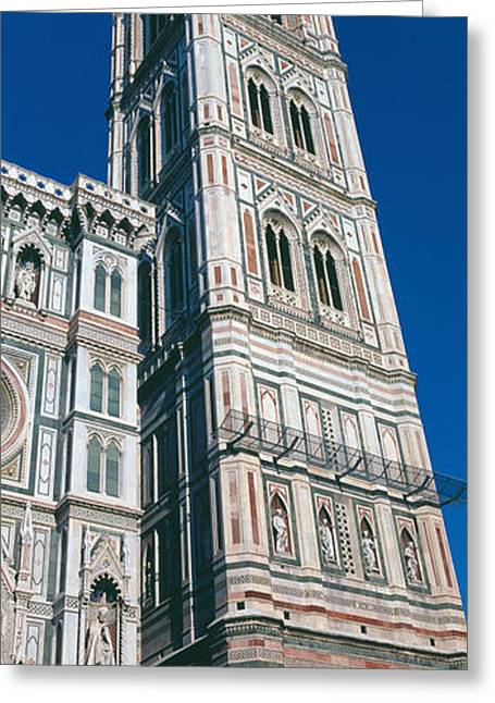 Duomo Greeting Cards - Low Angle View Of A Campanile Greeting Card by Panoramic Images