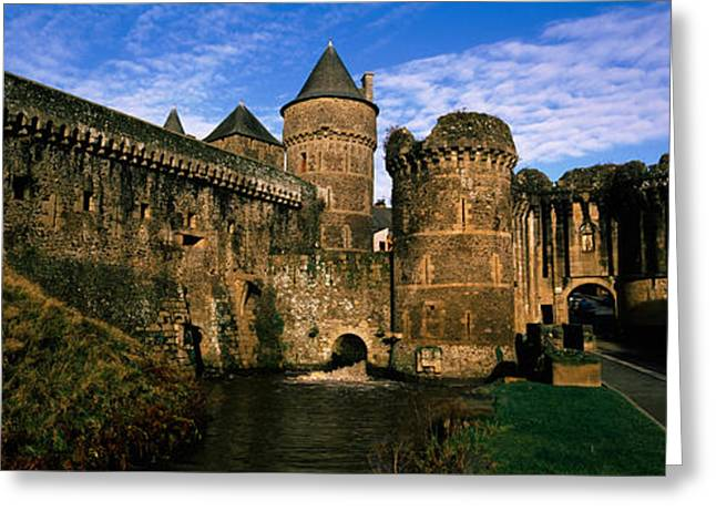 Chateau Greeting Cards - Low Angle View Of A Castle, Chateau De Greeting Card by Panoramic Images
