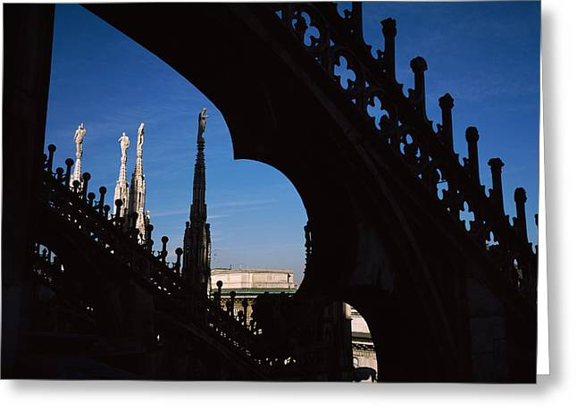 Milano Greeting Cards - Low Angle View Of A Cathedral, Duomo Di Greeting Card by Panoramic Images
