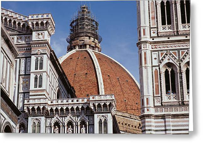Cupola Photographs Greeting Cards - Low Angle View Of A Cathedral, Duomo Greeting Card by Panoramic Images