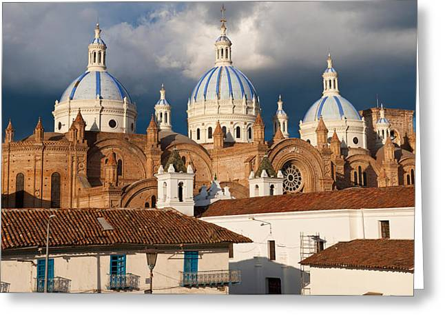 Overcast Day Greeting Cards - Low Angle View Of A Cathedral Greeting Card by Panoramic Images