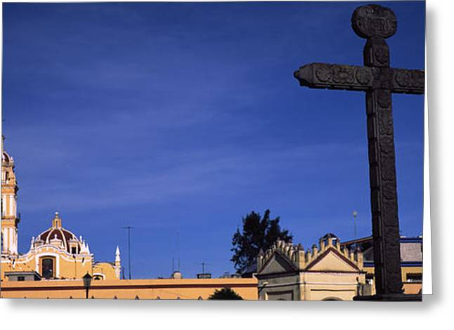 Puebla Greeting Cards - Low Angle View Of A Church, Cholula Greeting Card by Panoramic Images
