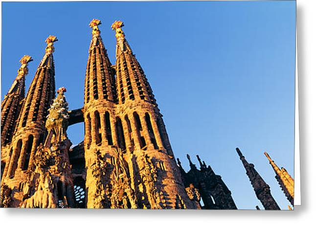 Sagrada Greeting Cards - Low Angle View Of A Church, Sagrada Greeting Card by Panoramic Images