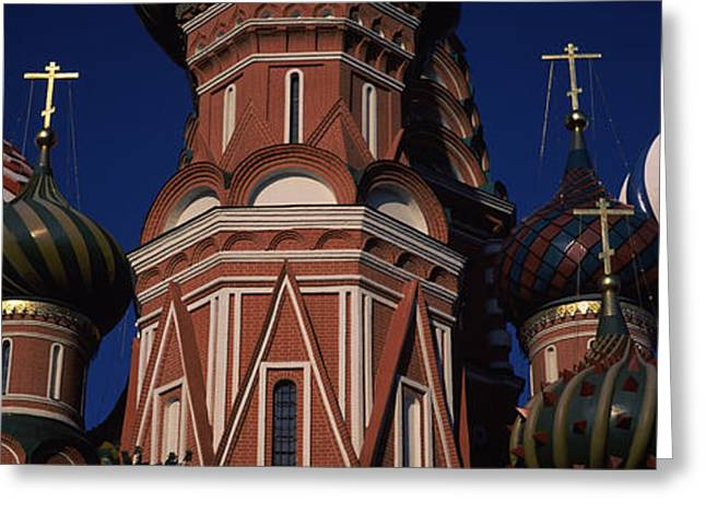 Commonwealth Of Independent States Greeting Cards - Low Angle View Of A Church, St. Basils Greeting Card by Panoramic Images