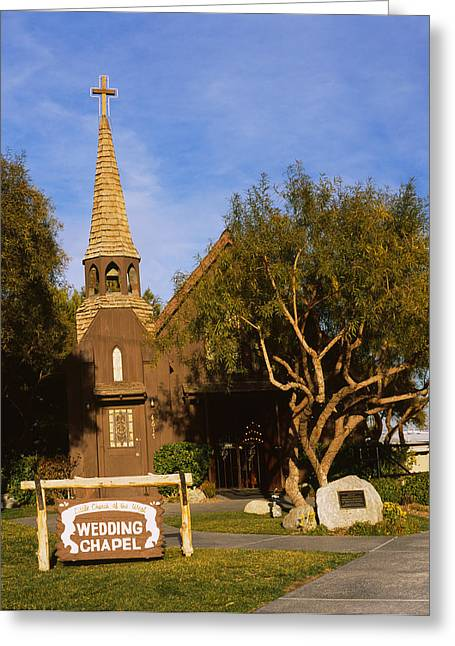 Script Greeting Cards - Low Angle View Of A Church, The Little Greeting Card by Panoramic Images