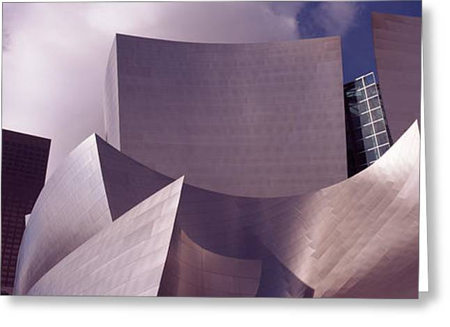 Stainless Steel Greeting Cards - Low Angle View Of A Concert Hall, Walt Greeting Card by Panoramic Images
