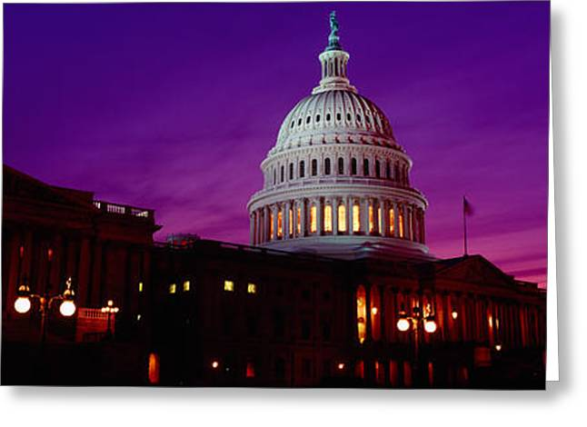 Capitol Greeting Cards - Low Angle View Of A Government Building Greeting Card by Panoramic Images