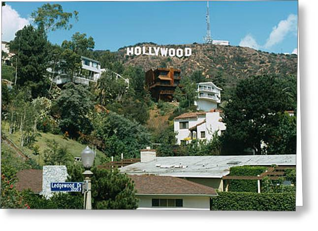Script Greeting Cards - Low Angle View Of A Hill, Hollywood Greeting Card by Panoramic Images