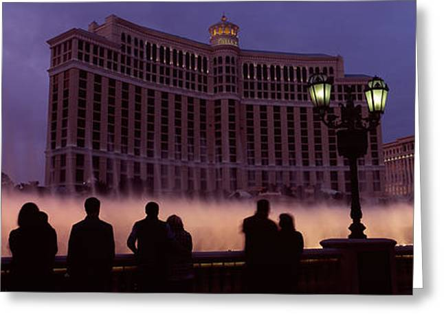 Bellagio Greeting Cards - Low Angle View Of A Hotel, Bellagio Greeting Card by Panoramic Images