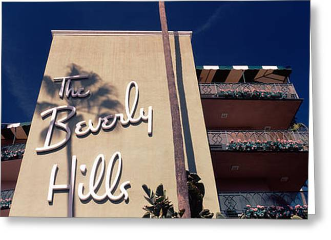 Low Angle View Of A Hotel, Beverly Greeting Card by Panoramic Images