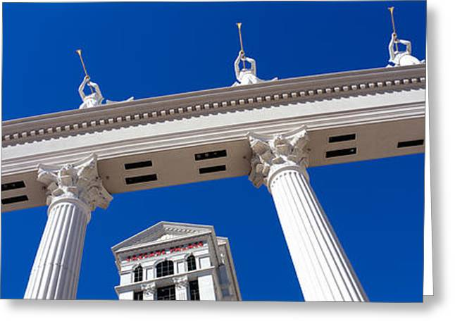 Caesars Palace Greeting Cards - Low Angle View Of A Hotel, Caesars Greeting Card by Panoramic Images