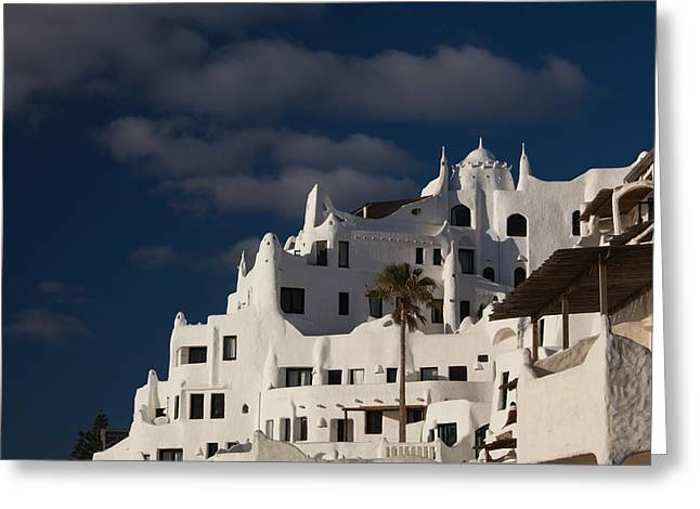 Featured Art Greeting Cards - Low Angle View Of A Hotel, Casapueblo Greeting Card by Panoramic Images