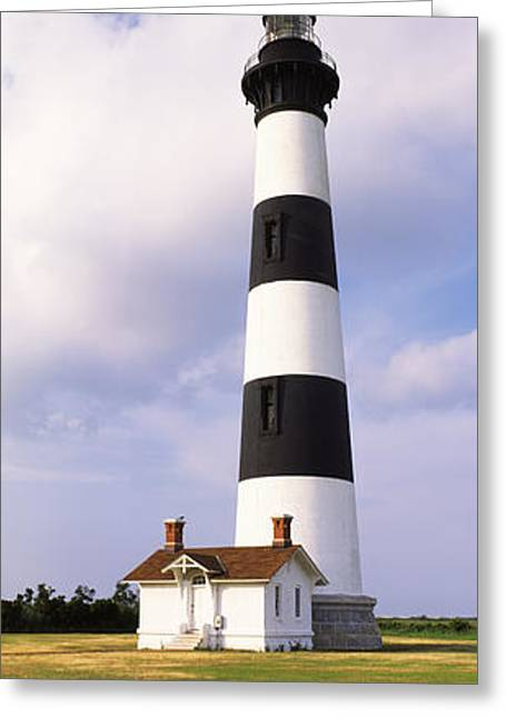 Cape Hatteras Greeting Cards - Low Angle View Of A Lighthouse, Bodie Greeting Card by Panoramic Images