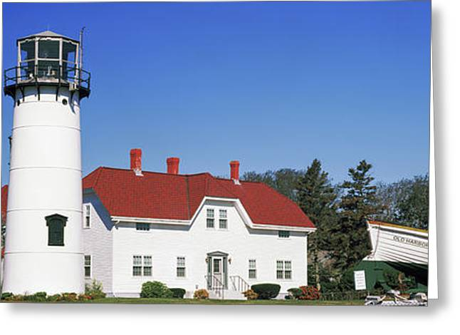 Low Angle View Of A Lighthouse, Chatham Greeting Card by Panoramic Images