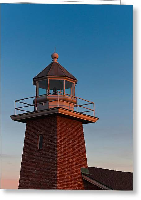 Santa Cruz Surfing Greeting Cards - Low Angle View Of A Lighthouse Museum Greeting Card by Panoramic Images