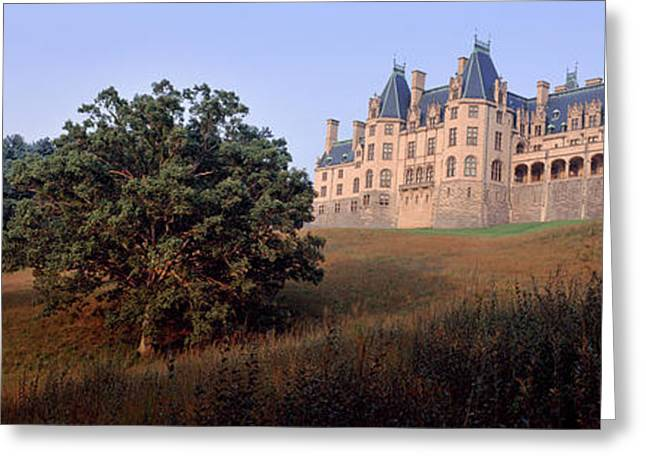 Low Angle View Of A Mansion, Biltmore Greeting Card by Panoramic Images