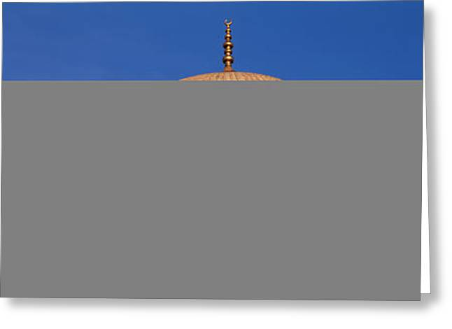 Istanbul Greeting Cards - Low Angle View Of A Mosque, Blue Greeting Card by Panoramic Images