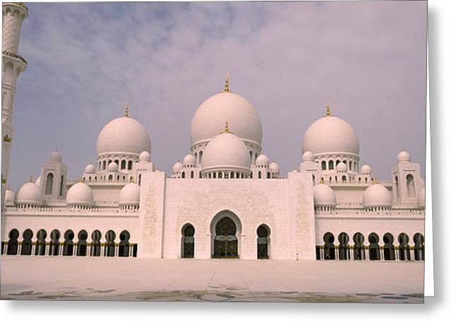 Repetition Greeting Cards - Low Angle View Of A Mosque, Sheikh Greeting Card by Panoramic Images
