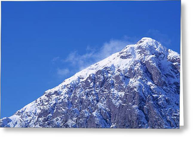 Rannoch Moor Greeting Cards - Low Angle View Of A Mountain Greeting Card by Panoramic Images