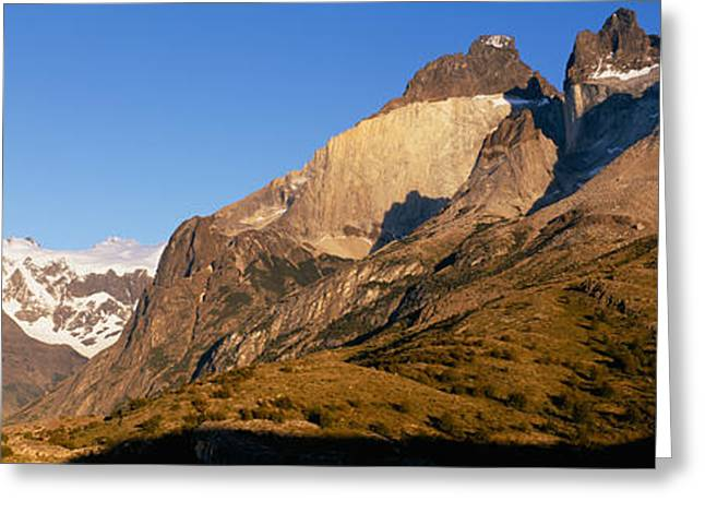 Mountain Greeting Cards - Low Angle View Of A Mountain Range Greeting Card by Panoramic Images