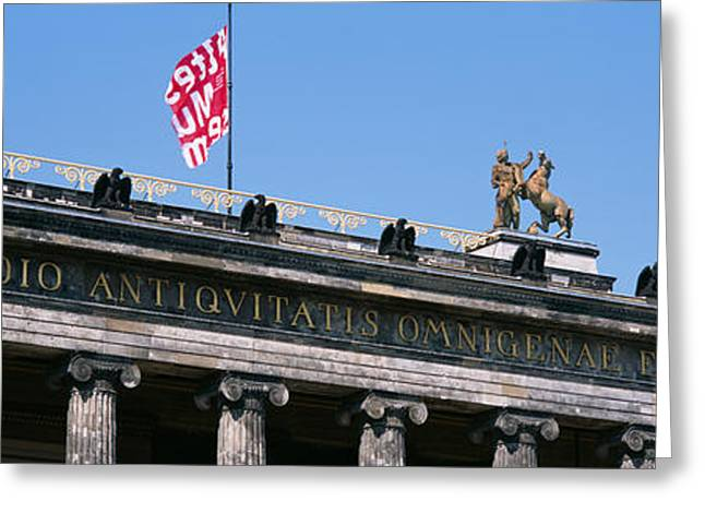 Museums Art Greeting Cards - Low Angle View Of A Museum, Altes Greeting Card by Panoramic Images