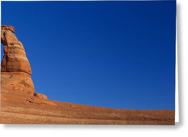 National Landmark Greeting Cards - Low Angle View Of A Natural Arch Greeting Card by Panoramic Images