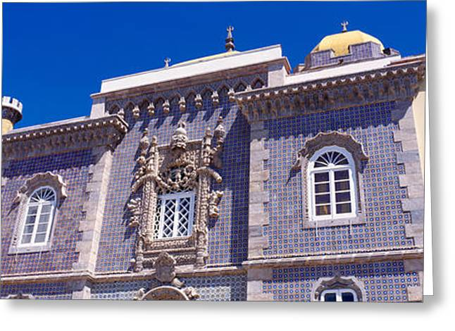 Pena Greeting Cards - Low Angle View Of A Palace, Palacio Greeting Card by Panoramic Images