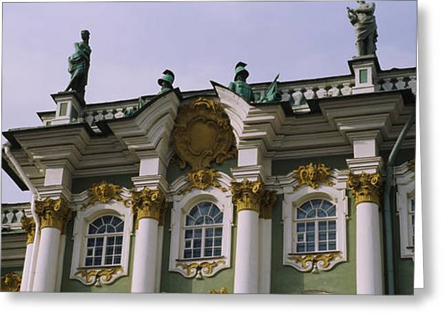 Former Greeting Cards - Low Angle View Of A Palace, Winter Greeting Card by Panoramic Images