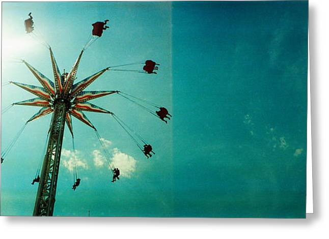 Luna Photographs Greeting Cards - Low Angle View Of A Park Ride, Brooklyn Greeting Card by Panoramic Images