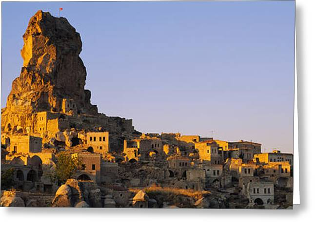 Ortahisar Greeting Cards - Low Angle View Of A Rock Formation Greeting Card by Panoramic Images
