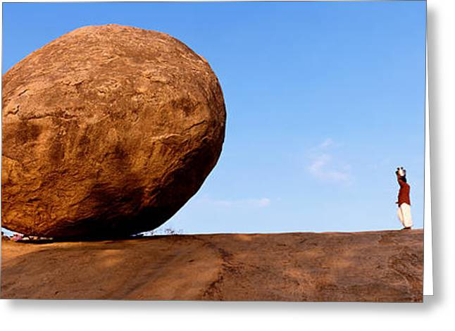 Sacred Greeting Cards - Low Angle View Of A Sacred Rock Greeting Card by Panoramic Images