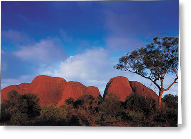 Cloud Formations. Cloud Photography Greeting Cards - Low Angle View Of A Sandstone, Olgas Greeting Card by Panoramic Images