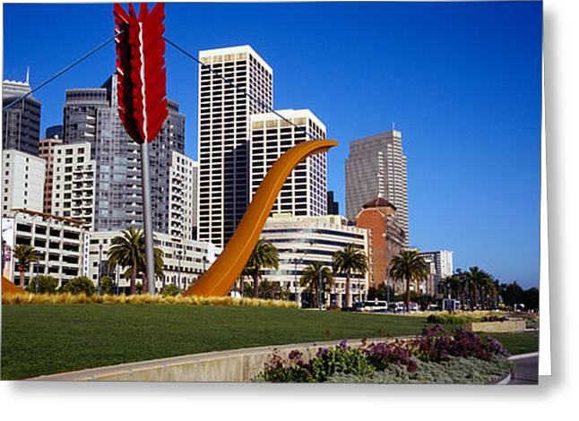 Oldenburg Greeting Cards - Low Angle View Of A Sculpture In Front Greeting Card by Panoramic Images