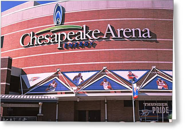 Oklahoma City Thunder Greeting Cards - Low Angle View Of A Stadium, Chesapeake Greeting Card by Panoramic Images