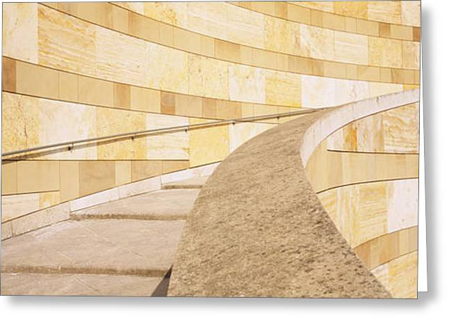 Geometric Image Greeting Cards - Low Angle View Of A Staircase Greeting Card by Panoramic Images