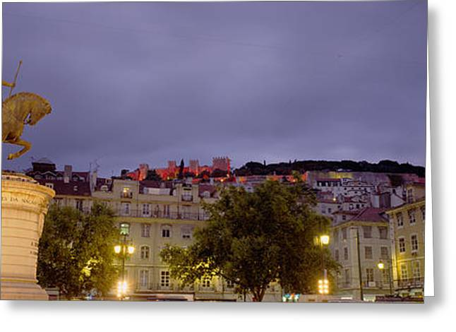 Town Square Greeting Cards - Low Angle View Of A Statue, Castelo De Greeting Card by Panoramic Images